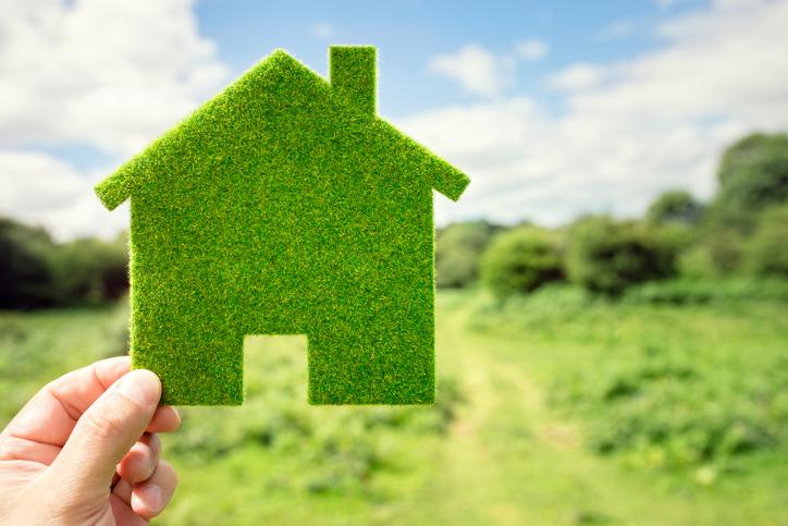 Green eco house environmental